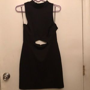 Black Halter Cut-Out Dress